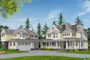 Country Style House Plan - 4 Beds 3.5 Baths 4925 Sq/Ft Plan #132-176 Exterior - Front Elevation