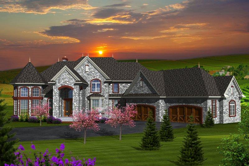 European Exterior - Front Elevation Plan #70-1150 - Houseplans.com