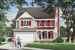 Home Plan Design - Country Exterior - Other Elevation Plan #137-283