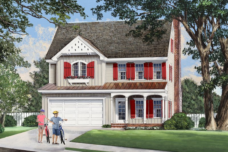 Country Exterior - Other Elevation Plan #137-283 - Houseplans.com