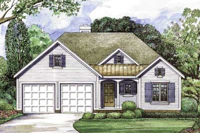 Traditional Exterior - Front Elevation Plan #20-1402 - Houseplans.com