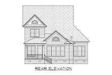 Dream House Plan - Traditional Exterior - Rear Elevation Plan #1054-74