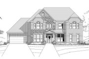 Traditional Style House Plan - 6 Beds 3.5 Baths 4157 Sq/Ft Plan #411-127 Exterior - Front Elevation