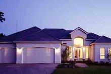 Dream House Plan - Mediterranean Exterior - Front Elevation Plan #48-231