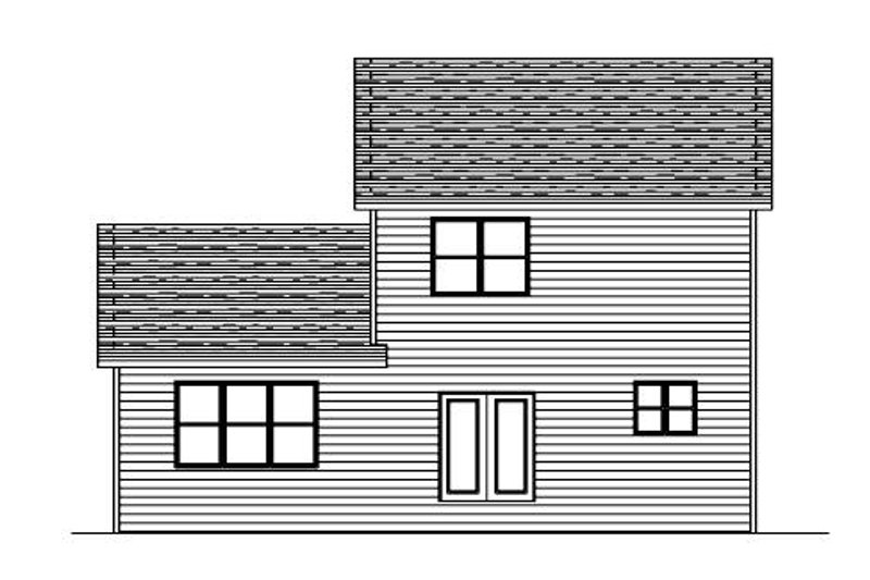 Traditional Exterior - Rear Elevation Plan #51-376 - Houseplans.com