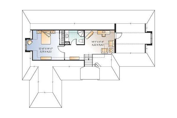 Cottage Floor Plan - Upper Floor Plan Plan #23-675