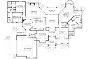 Traditional Style House Plan - 4 Beds 2.5 Baths 2661 Sq/Ft Plan #80-169 Floor Plan - Main Floor Plan