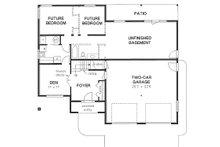 Mediterranean Floor Plan - Lower Floor Plan Plan #18-253