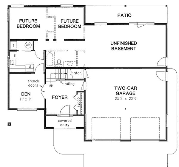 Mediterranean Floor Plan - Lower Floor Plan Plan #18-253