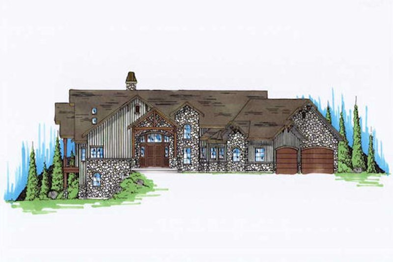 House Plan Design - Traditional Exterior - Front Elevation Plan #5-298