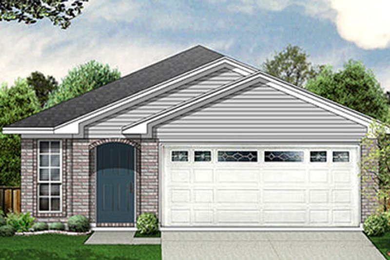 Traditional Style House Plan - 3 Beds 2 Baths 1245 Sq/Ft Plan #84-296 Exterior - Front Elevation