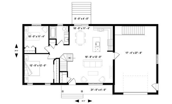 House Plan Design - Ranch Floor Plan - Main Floor Plan #23-2653