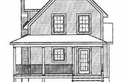 Cottage Style House Plan - 3 Beds 1 Baths 1002 Sq/Ft Plan #23-2043 Exterior - Rear Elevation
