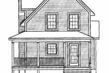 Cottage Exterior - Rear Elevation Plan #23-2043
