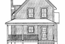 Cottage Exterior - Rear Elevation Plan #23-2043