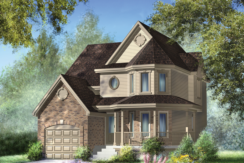 Victorian Style House Plan - 4 Beds 1 Baths 1787 Sq/Ft Plan #25-4689