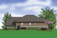 Modern Exterior - Rear Elevation Plan #48-613