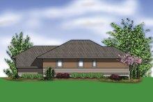 Home Plan - Modern Exterior - Rear Elevation Plan #48-613