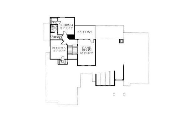 Country Floor Plan - Upper Floor Plan #80-190