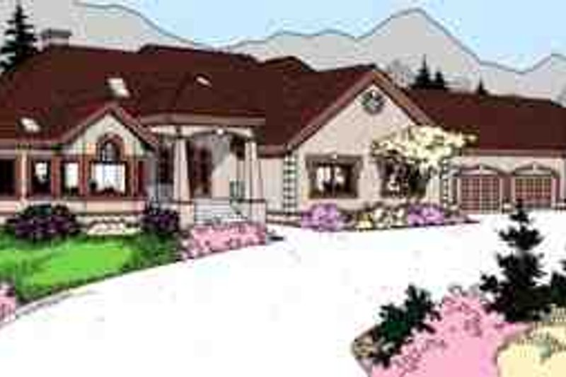 Traditional Exterior - Front Elevation Plan #60-632 - Houseplans.com