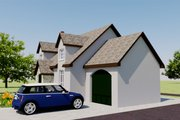 European Style House Plan - 2 Beds 1 Baths 566 Sq/Ft Plan #542-6 Exterior - Other Elevation