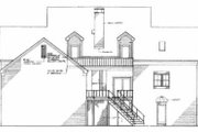 Southern Style House Plan - 4 Beds 3.5 Baths 3153 Sq/Ft Plan #45-164 Exterior - Rear Elevation