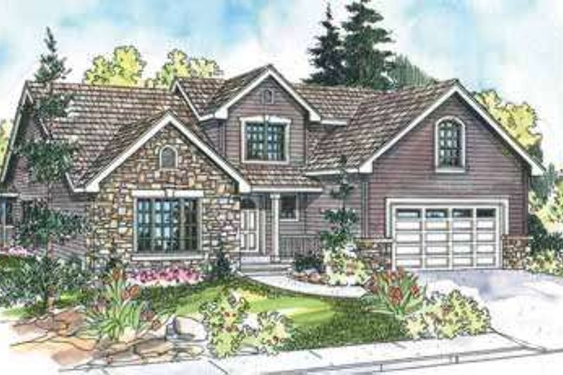 Traditional Exterior - Front Elevation Plan #124-602 - Houseplans.com