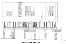 House Plan Design - Country Exterior - Rear Elevation Plan #17-2512