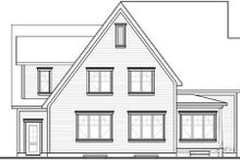 House Plan Design - Country Exterior - Rear Elevation Plan #23-336