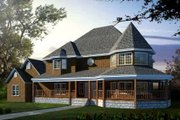 Victorian Style House Plan - 4 Beds 4 Baths 2932 Sq/Ft Plan #1-719 Exterior - Front Elevation