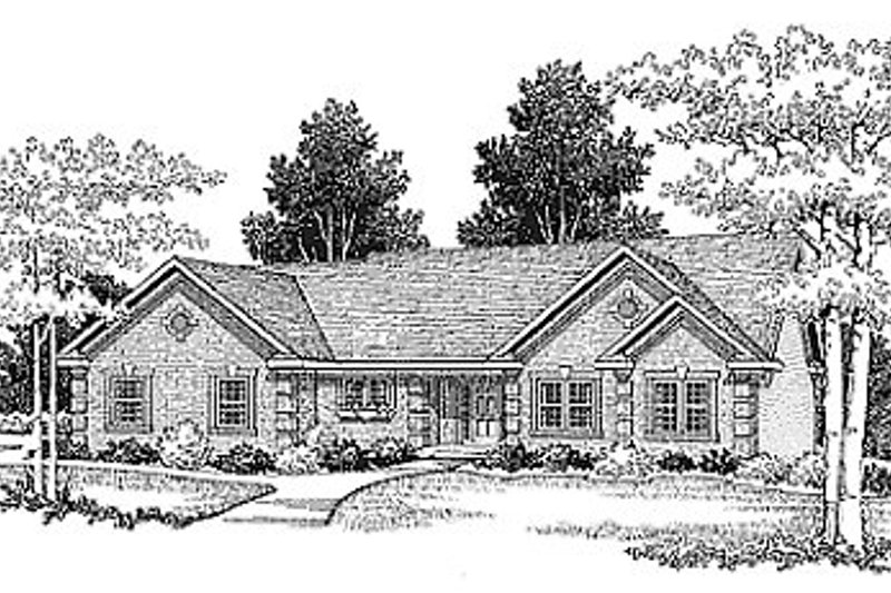 Traditional Style House Plan - 3 Beds 2.5 Baths 1700 Sq/Ft Plan #70-175 Photo