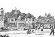 European Style House Plan - 5 Beds 8 Baths 6274 Sq/Ft Plan #310-352 Exterior - Rear Elevation