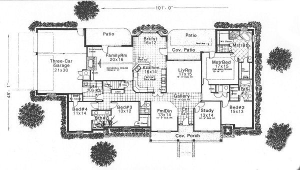 Traditional Floor Plan - Main Floor Plan Plan #310-626