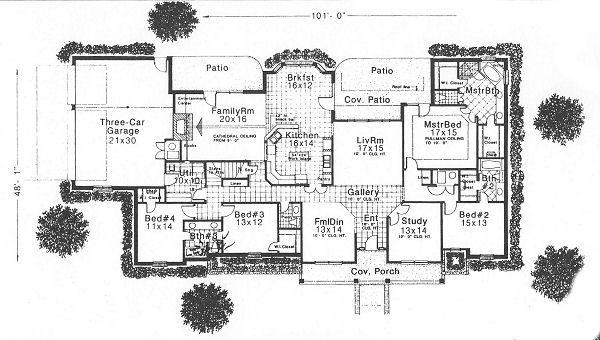 Traditional Floor Plan - Main Floor Plan Plan #310-626