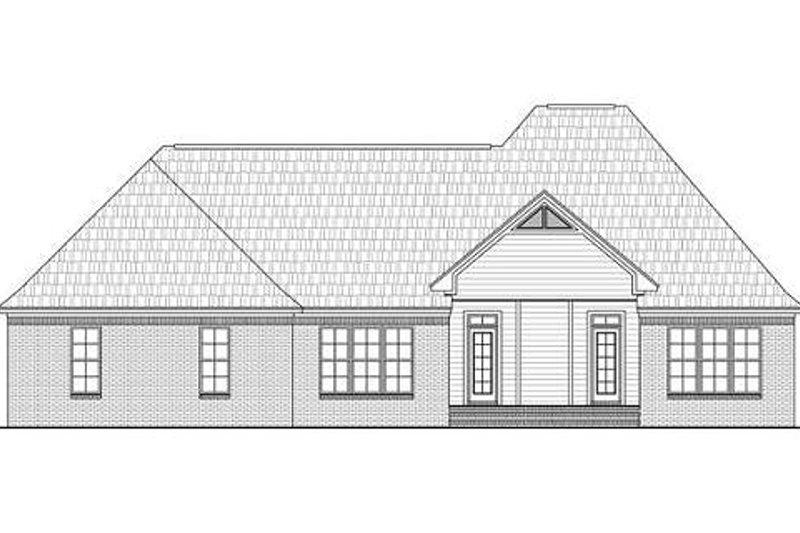European Exterior - Rear Elevation Plan #21-243 - Houseplans.com