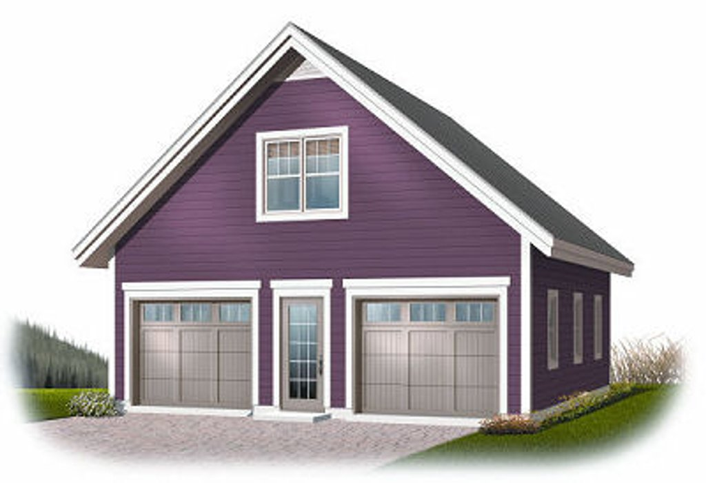 Traditional style house plan 0 beds 0 baths 1307 sq ft for Cost to build a 576 sq ft house