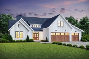 Farmhouse Exterior - Front Elevation Plan #48-981