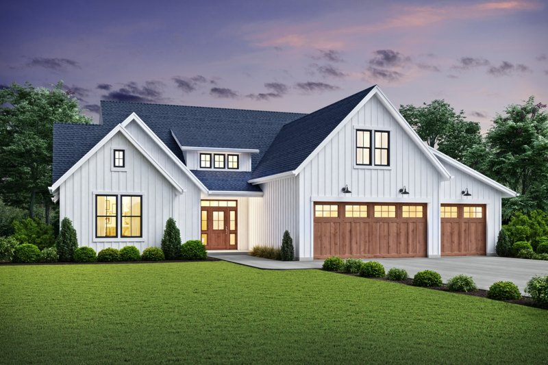 Home Plan - Farmhouse Exterior - Front Elevation Plan #48-981