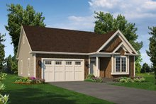 Dream House Plan - Ranch Exterior - Front Elevation Plan #57-670