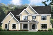 Traditional Style House Plan - 4 Beds 2.5 Baths 2611 Sq/Ft Plan #1010-233 Exterior - Front Elevation