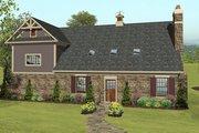 Craftsman Style House Plan - 2 Beds 1 Baths 1207 Sq/Ft Plan #56-617