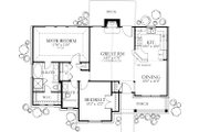 Ranch Style House Plan - 2 Beds 2 Baths 1092 Sq/Ft Plan #80-101 Floor Plan - Main Floor Plan