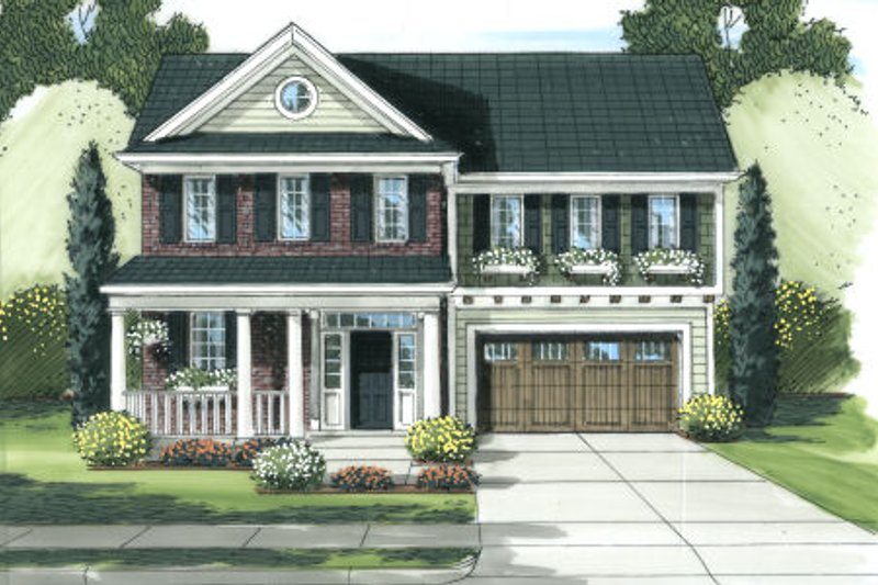 Country Exterior - Front Elevation Plan #46-450 - Houseplans.com