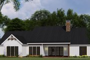 Country Style House Plan - 4 Beds 2.5 Baths 1897 Sq/Ft Plan #923-131 Exterior - Rear Elevation