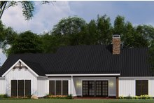 House Plan Design - Country Exterior - Rear Elevation Plan #923-131