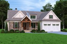 Architectural House Design - Craftsman Exterior - Front Elevation Plan #927-1012