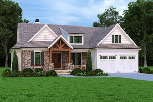 Craftsman Exterior - Front Elevation Plan #927-1012