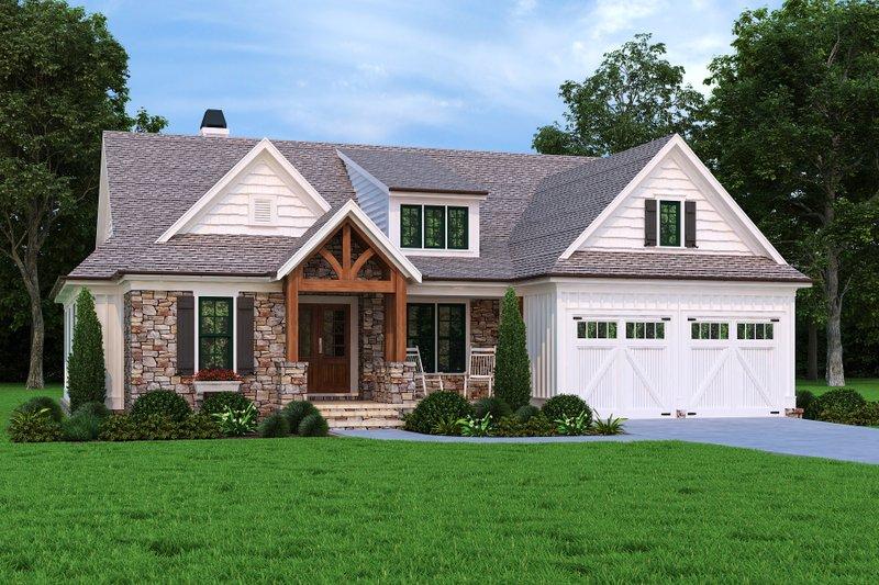 House Plan Design - Craftsman Exterior - Front Elevation Plan #927-1012