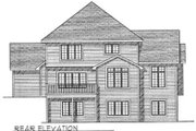 European Style House Plan - 4 Beds 2.5 Baths 2657 Sq/Ft Plan #70-426 Exterior - Rear Elevation