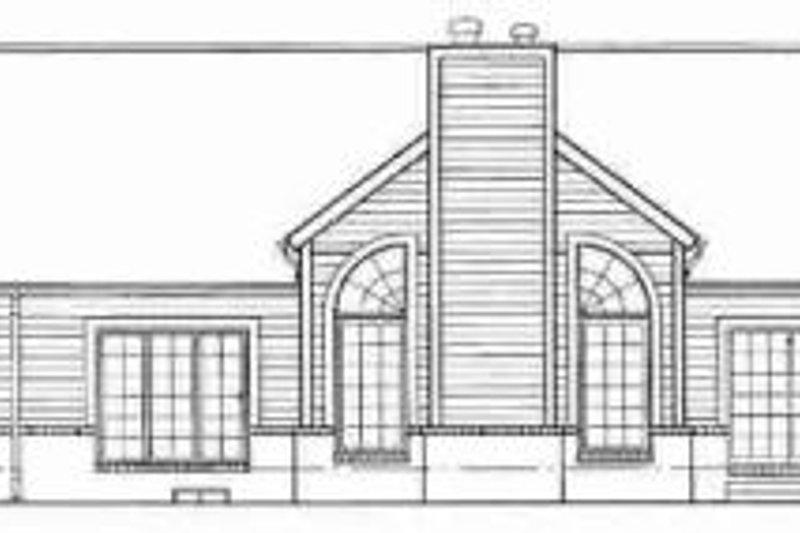 Traditional Exterior - Rear Elevation Plan #72-326 - Houseplans.com